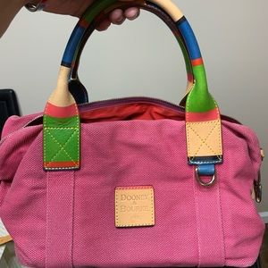 Dooney and bourke pink  w/ multicolored handle